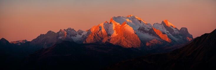 Canvas Prints Salmon Dolomites sunrise