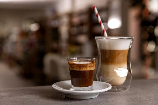 Delicious hot coffee drink