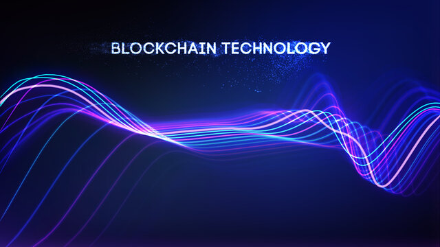 EPS 10. Blockchain technology background. Cryptocurrency fintech block chain network and programming concept. Abstract Segwit.