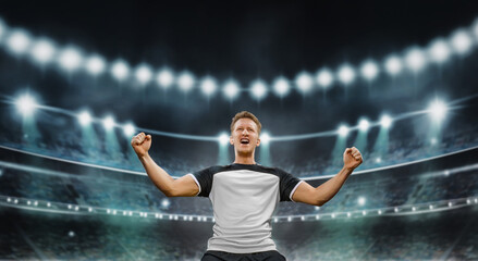 He is the champion - soccer concept - fototapety na wymiar