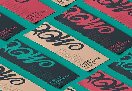 Isometric Photorealistic Product Label Tag Mockup