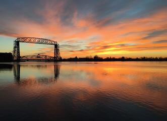 Duluth Lift Bridge at Sunrise