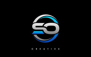 Fototapeta SO Letter Initial Logo Design Template Vector Illustration obraz
