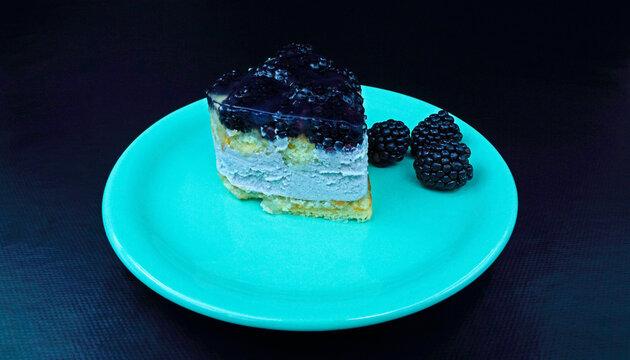 Fruit tartlet with yogurt cream