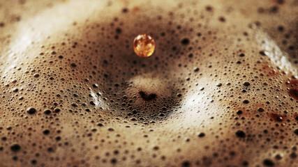 Obraz Freeze motion of macro shot of coffee drop - fototapety do salonu