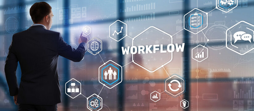 Automation of business workflows. Work process