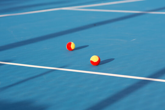 Close-up Of Ball On Tennis Court