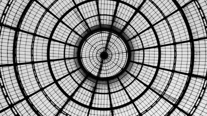 Langle View Of Skylight. Foto Scattata Proprio Sotto Alla Cupola Della Galleria Cavour Di Milano