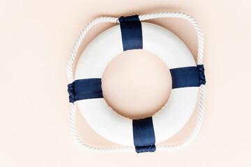 Fototapeta Summer Lifesaving Tube Beach Concept obraz