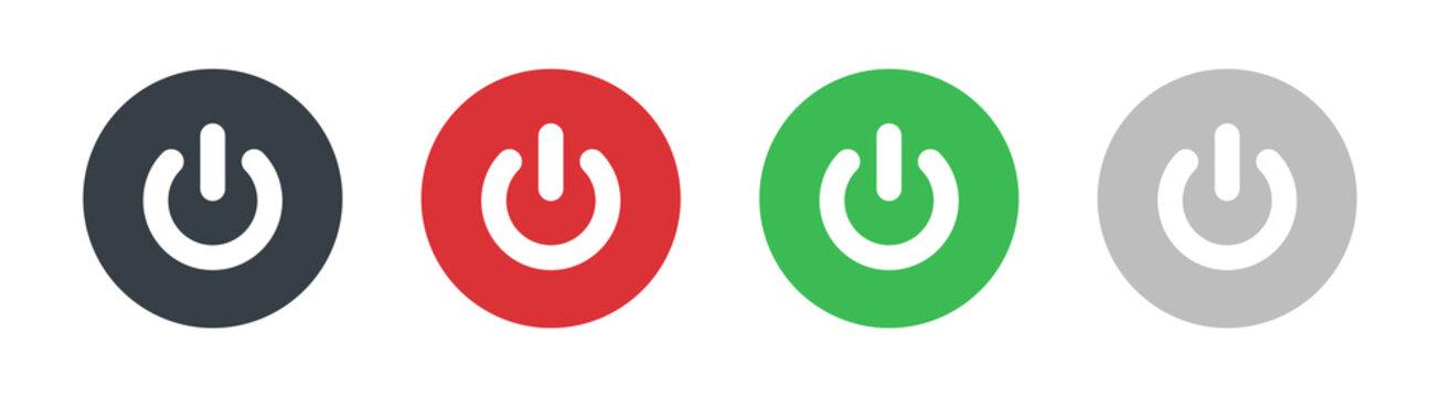 Power icon set isolated on white background. Power Switch icon. Start power icon