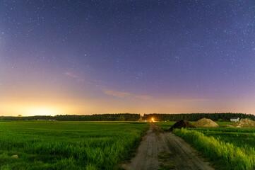 Fototapeta Nocny krajobraz  obraz