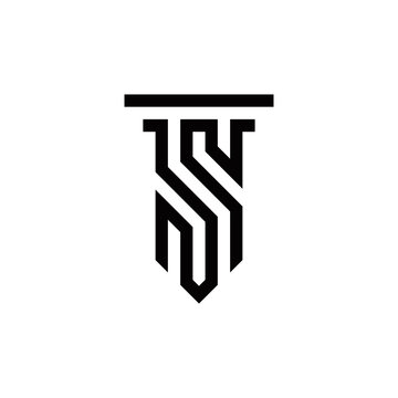 s initial law logo design vector template