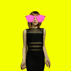 Modern design, contemporary art collage. Inspiration, idea, trendy urban magazine style.