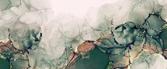 Luxury alcohol ink background with rose gold design elements, modern fluid art texture, hand drawn painting wallpaper