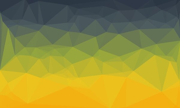 Abstract geometric background with grey, green and yellow pattern