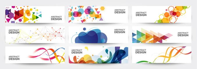 Obraz abstract banners - fototapety do salonu
