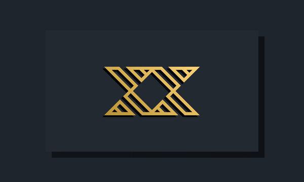 Elegant line art initial letter XX logo.