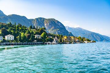 Blick auf das schöne Städtchen Cadenabbia am Comer See, Italien