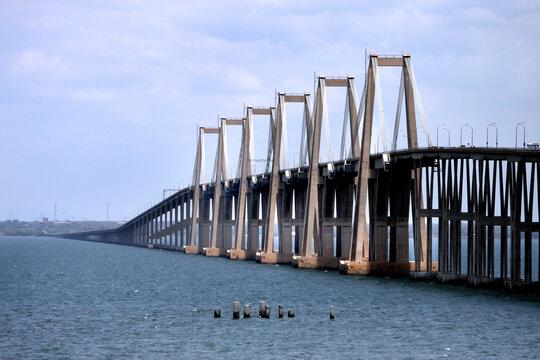 Puente sobre el Lago de Maracaibo en el estado Zulia, Venezuela