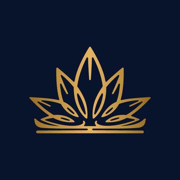 cannabis modern gold logo design