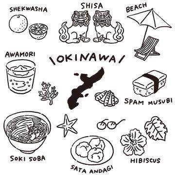 沖縄の名産とおいしい食べ物セット 線のみ