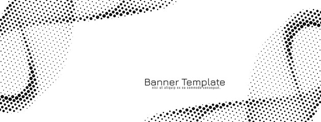 Fototapeta Abstract wave style halftone design banner obraz