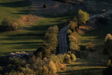 Fototapeta Pieniny- zachód słońca. obraz