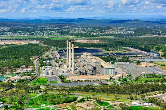 Coal fired power station in Gladstone, Queensland