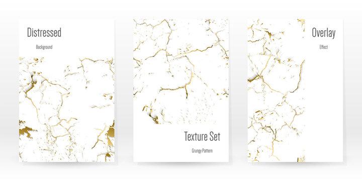 Elegant Gold Texture Set. Marble Business Card.