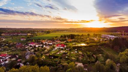 Fototapeta Zachód słońca w Polanowie obraz
