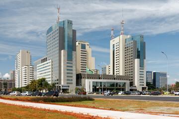 Dzielnica biurowa Brasilii, Brazylia, rok 2014