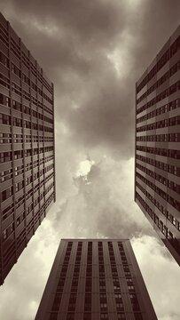 Buildings sky sepia