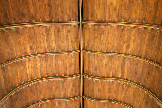 Jacques Coeur Palace, Bourges, France. 15th-century wooden vault