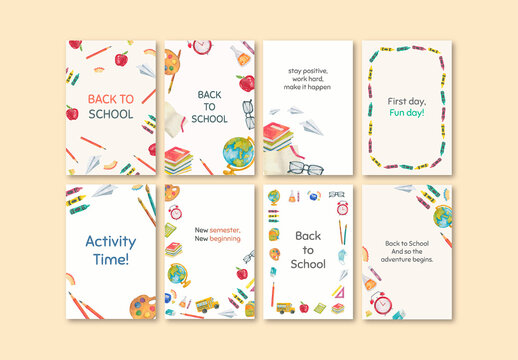 Back to School Template for Social Media