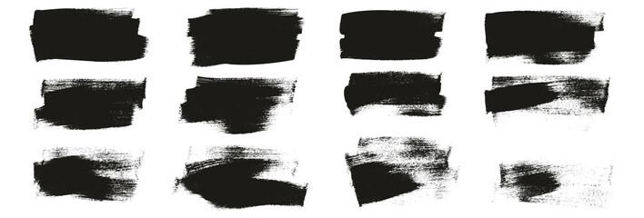 Obraz Flat Calligraphy Paint Brush Regular Short Background High Detail Abstract Vector Background Set  - fototapety do salonu