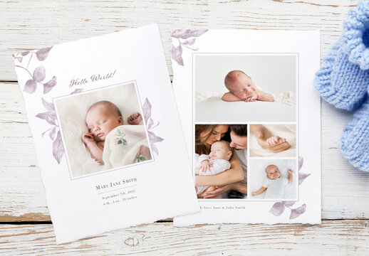 New Born Introducing Card Layout