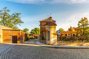 Slavin cemetery in Vysehrad. Prague, Czech Republic