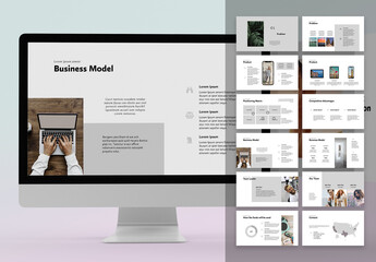 Fototapeta Pitch Deck Business Marketing Plan obraz