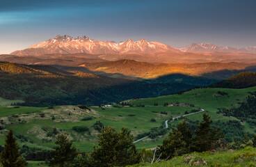 Widok na Tatry z Pienin