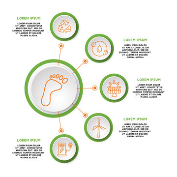 Eco friendly nature icon infographic template