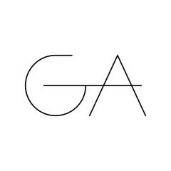 Fototapeta ga initial letter vector logo obraz
