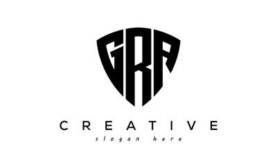 Obraz GRA letter creative logo with shield - fototapety do salonu