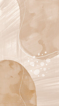 Brown Beige Watercolor Texture Abstract Illustration Background