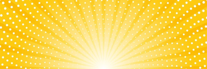Fototapeta Abstract background with sun ray and dots. Summer vector illustration obraz