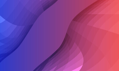 Fototapeta Abstract curve geometry surfaces, Abstract symmetrical modern curve blue purple and orange background vector design obraz