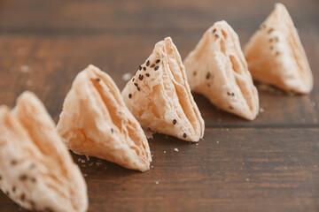 Indian traditional snack Salt kari veg puff
