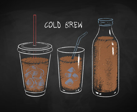 Chalked Cold Brew coffee cups