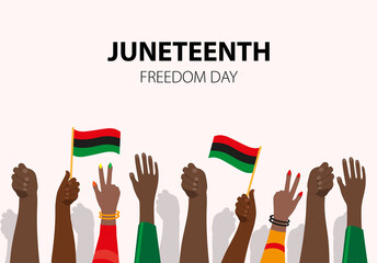 Fototapeta Juneteenth, African-American Independence Day, June 19. Day of freedom and emancipation obraz