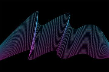 Fototapeta Line flexible stripes futuristic pattern background. Line artwork for design flyer, club party invitation, shop poster etc. obraz