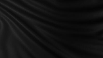 高級感ある黒の布の背景素材。ラグジュアリなデザインに合います。